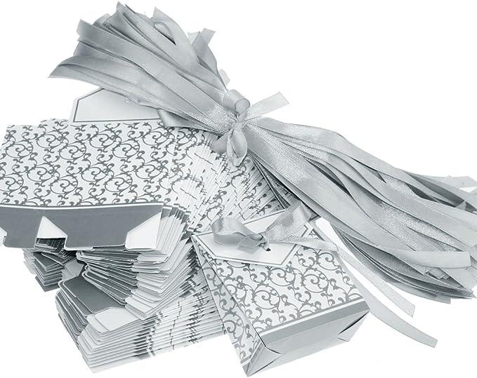100tlg Geschenkbox Gastgeschenk Candy Box Hochzeit Süßigkeitenbox Karton
