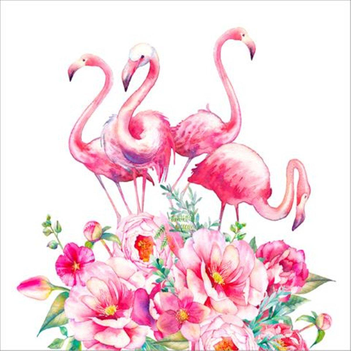 5D Diamond Painting Kit DIY Rhinestone Embroidery Cross Stitch Arts Craft for Home Wall Decor Flamingos 12x12 inch EOBROMD
