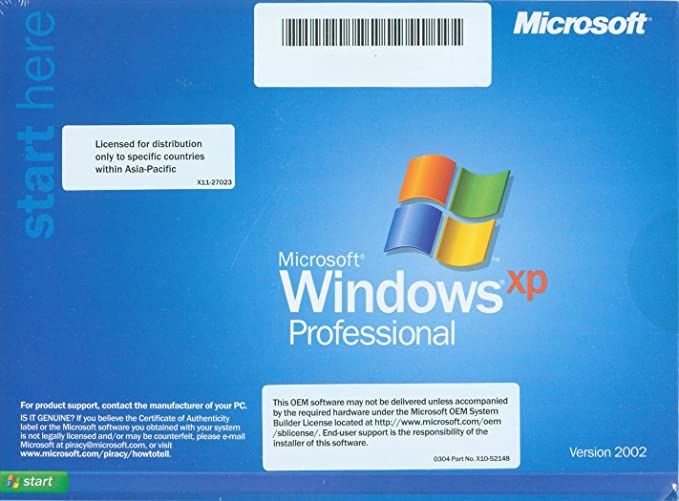 windows xp professional 2002
