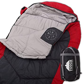 super popular e03b8 cb422 Mummy Sleeping Bag with Compression Sack - Winter Sleeping Bag for Camping,  Hiking, Backpacking & Travel - Waterproof, Compact and Ultralight Cold ...