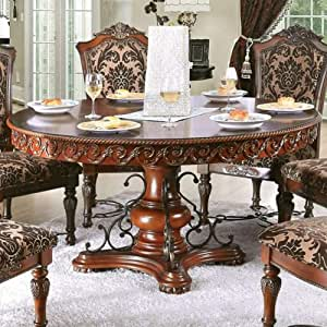 William's Home Furnishing Lucie Table, Brown Cherry
