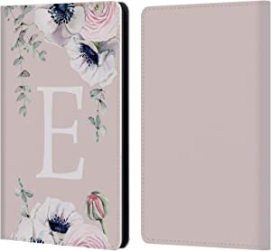 Head Case Designs Officially Licensed Nature Magick Letter E Floral Monogram Pink Flowers Leather Book Wallet Case Cover Compatible with Kindle Paperwhite 1/2 / 3