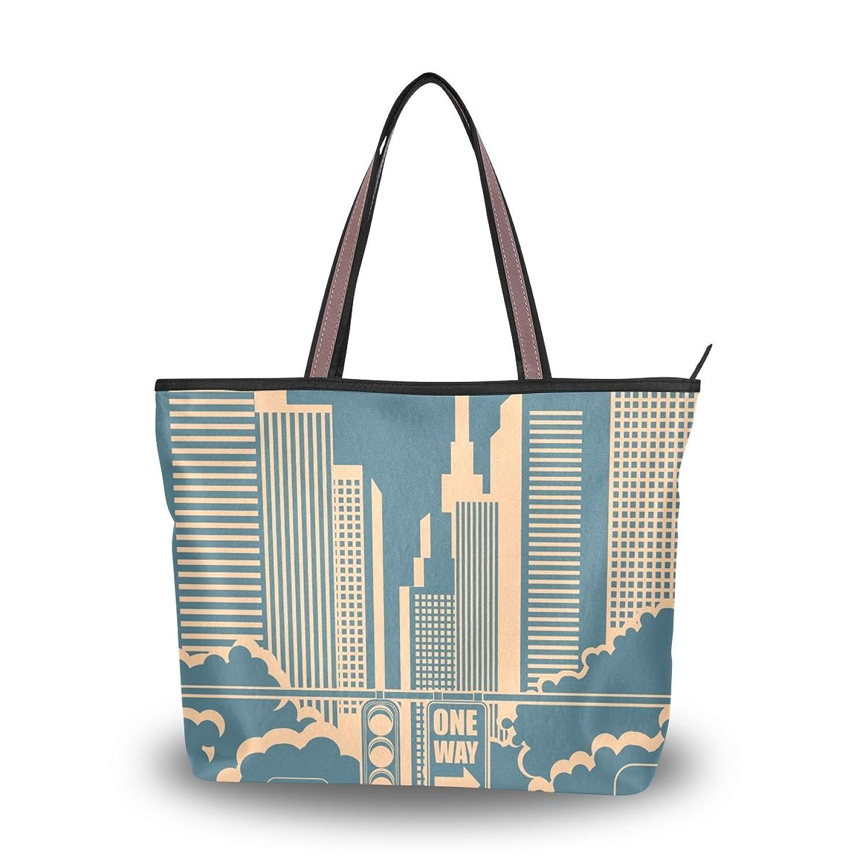 WHBAG Lightweight Tote bag,Vintage Travel Tourism Building,handbag for Women