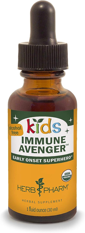 Herb Pharm Kids Certified-Organic Alcohol-Free Immune Avenger Herbal Formula, 1 Ounce