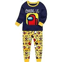 Kidstom Among us Pyjamas Summer Pjs for Boys Girls Game Character Nightwear Kids Short Sleeve Pajamas Imposter T-Shirt…