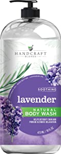 Handcraft Lavender Body Wash – Moisturizing Body Wash Helps Cleanse and Brighten the Skin –Acne Wash Helps Fight Acne and Signs of Aging – Great Stress Relief Gifts for Women - 16 Fl Oz