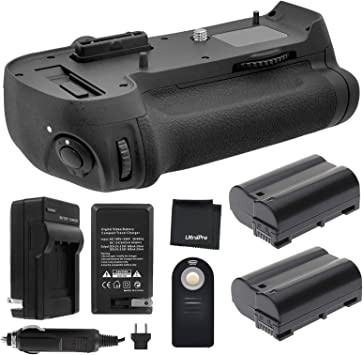 Battery Grip for Nikon D800 D810 MB-D12 2x EN-EL15 Batteries Dual Charger