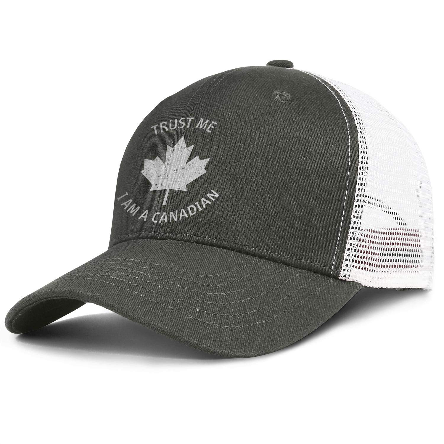 Canada Day Trust Me I Am a Canadian Unisex Mesh Back Cap Ultra Thin Running Hats Adjustable Trucker Baseball Caps