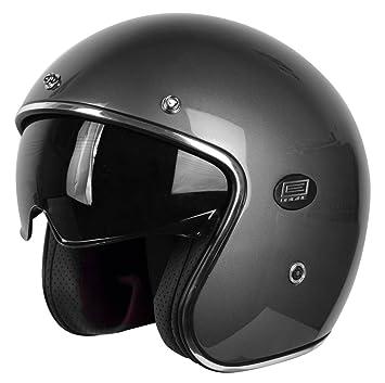Origine Helmets 202587013200102 Sirio Solid Gun Casco Jet de fibra de carbono, titanio, XS