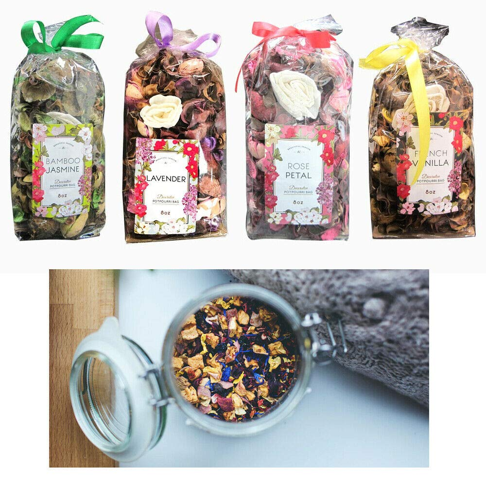 4 X Fragrance Potpourri Bags Scented Decorative Spice 8 oz Assortment Blend New by Cocoso Shop (Image #1)