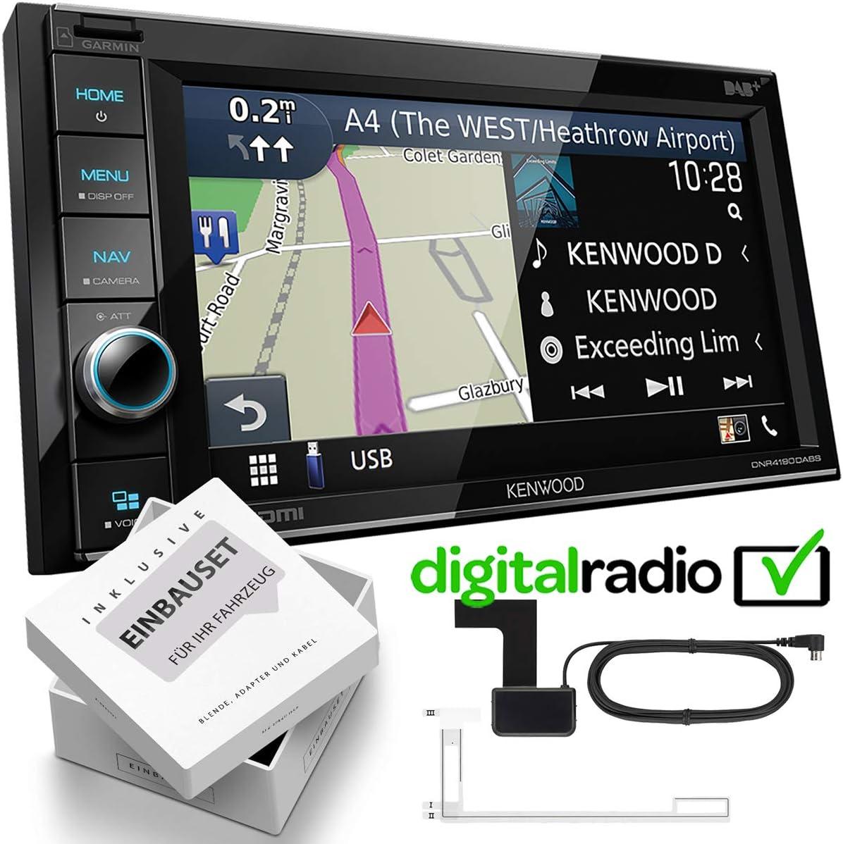 Kenwood Dnr4190dabs 2 Din Dab Navigation Mediaplayer Inkl Antenne Passend Für Iveco Daily Vi Ab 2014 Schwarz Navigation