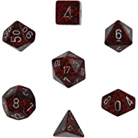 Polyhedral 7-Die Chessex Dice Set - Speckled Silver Volcano