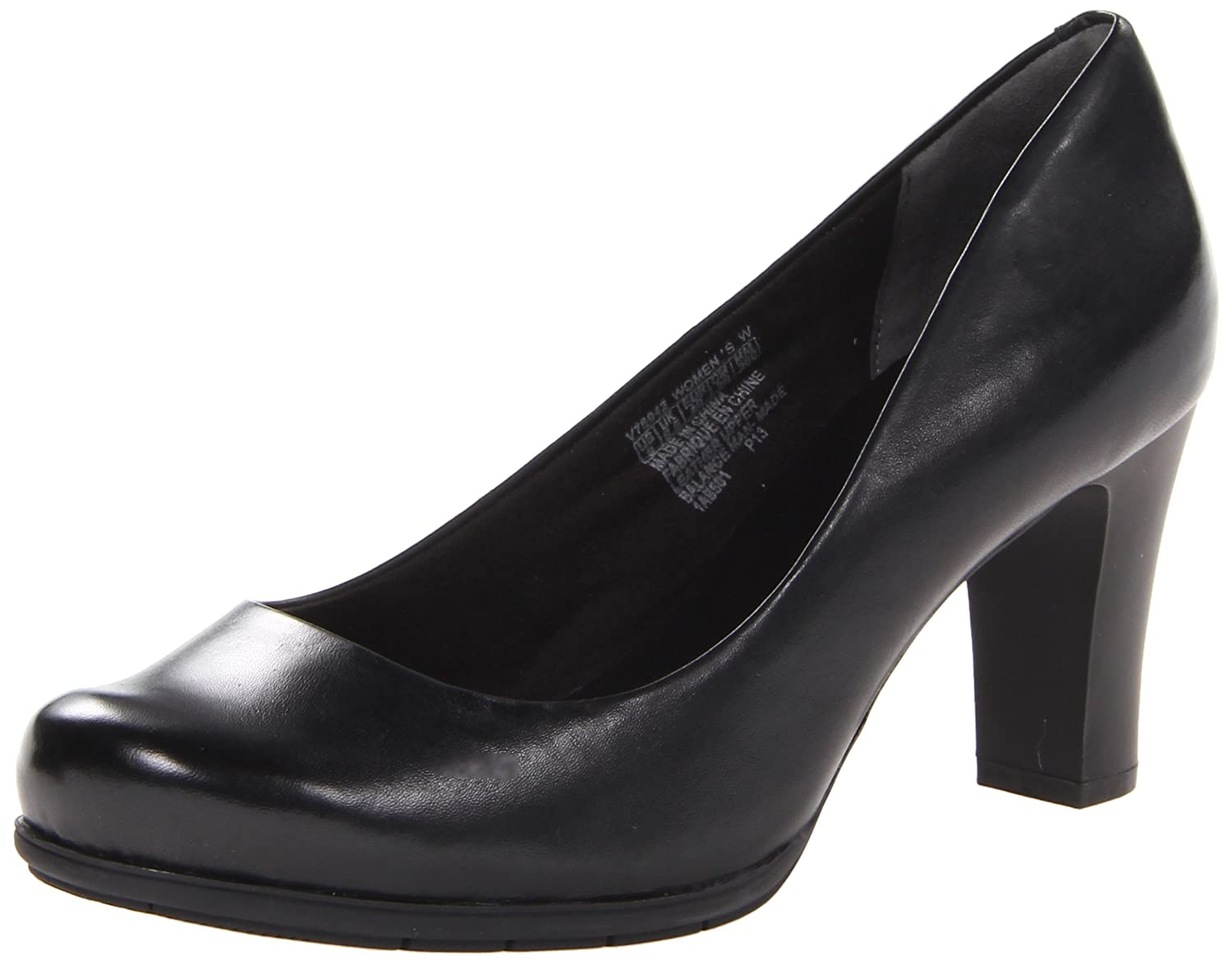 Black Leather Rockport Women's Total Motion Pump