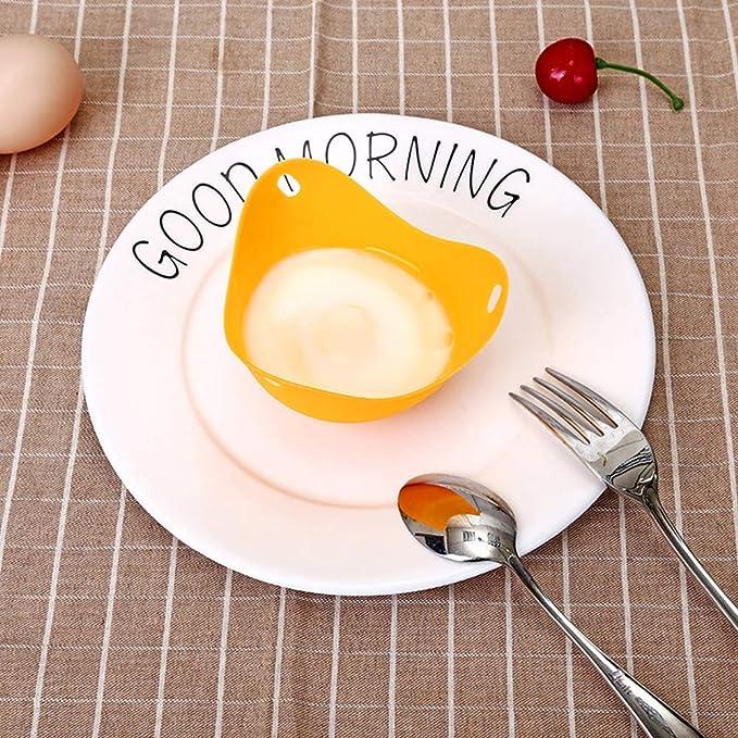 Huevo furtivo, tazas de huevo escalfado de silicona con ...
