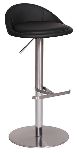 Tresenhocker Höhenverstellbar wohnling durable m1 barhocker mit silberfarbenem edelstahlgestell