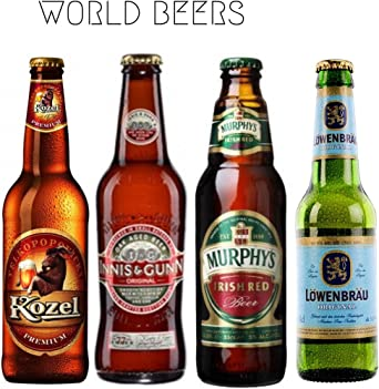 Cervezas de coleccion - Cervezas internacionales - Pack de 4 ...