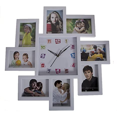 Buy Smera Wall Clock With Photo Frame Collage Online At Low Prices