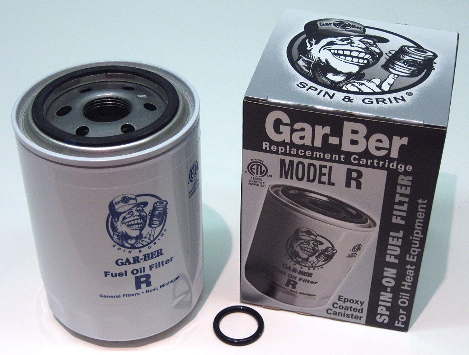 GSParts #R Gar-Ber R Spin On Furnace Fuel Oil Filter Epoxy Coated Garber  Cartridge - - Amazon.comAmazon.com