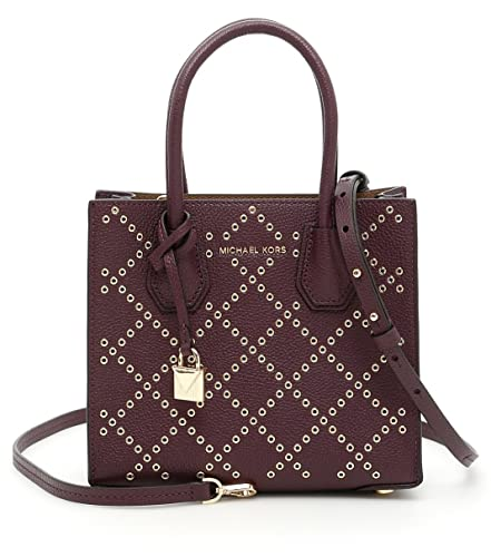 Michael Kors Studio Mercer Stud   Grommet Cross-Body Bag - Purple -  30F7GZ4M2U-599  Handbags  Amazon.com c749cf781e6b8