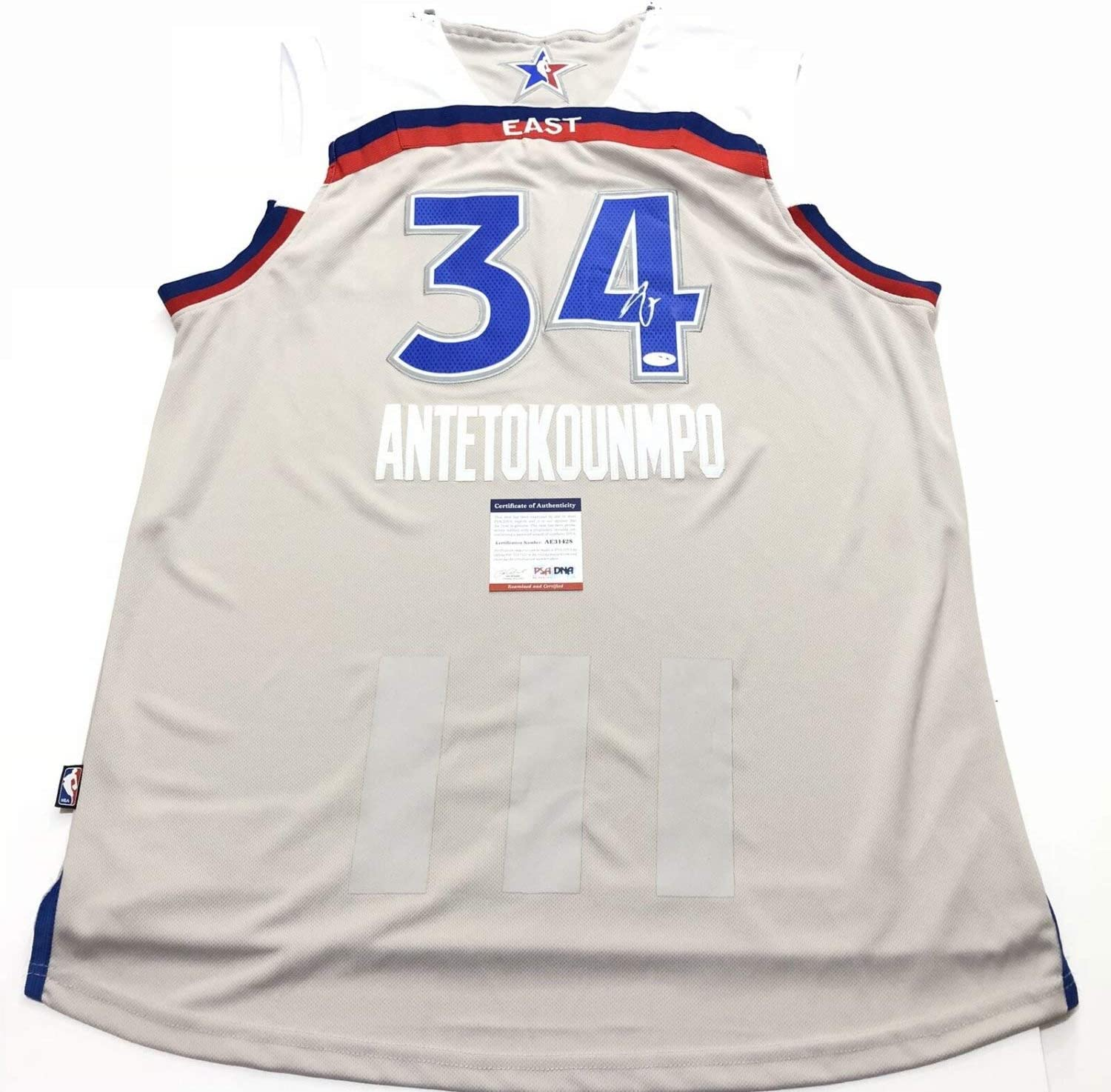 Giannis Antetokounmpo Autographed Signed Jersey PSA/DNA Milwaukee Bucks Autographed All Star