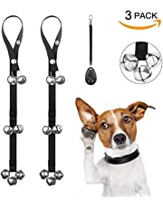 "2 Pack Dog Potty Training Door Bells Adjustable Puppy Doorbells House Training Toilet Training - Premium Quality - 7 Extra Large Loud 1.4"" Doorbells - Bonus 1 Training Clicker Include"