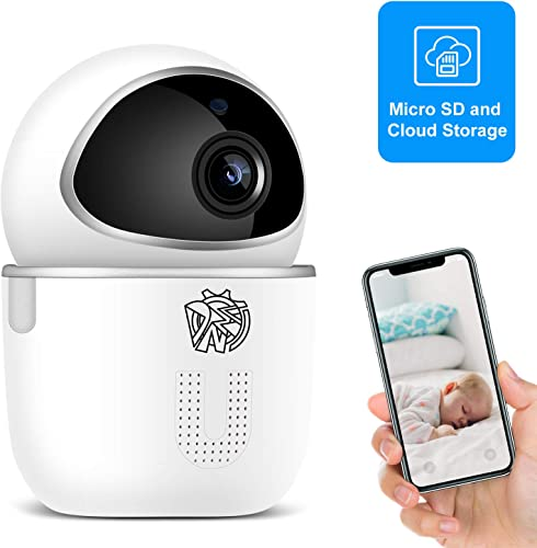 Doenssi Baby Monitor Pet Camera Indoor Security Camera Wireless 1080P HD 2.4G WiFi IP with Pan Tilt Night Vision Motion Sound Detection 2 Way Audio MicroSD Cloud Storage for Home Security