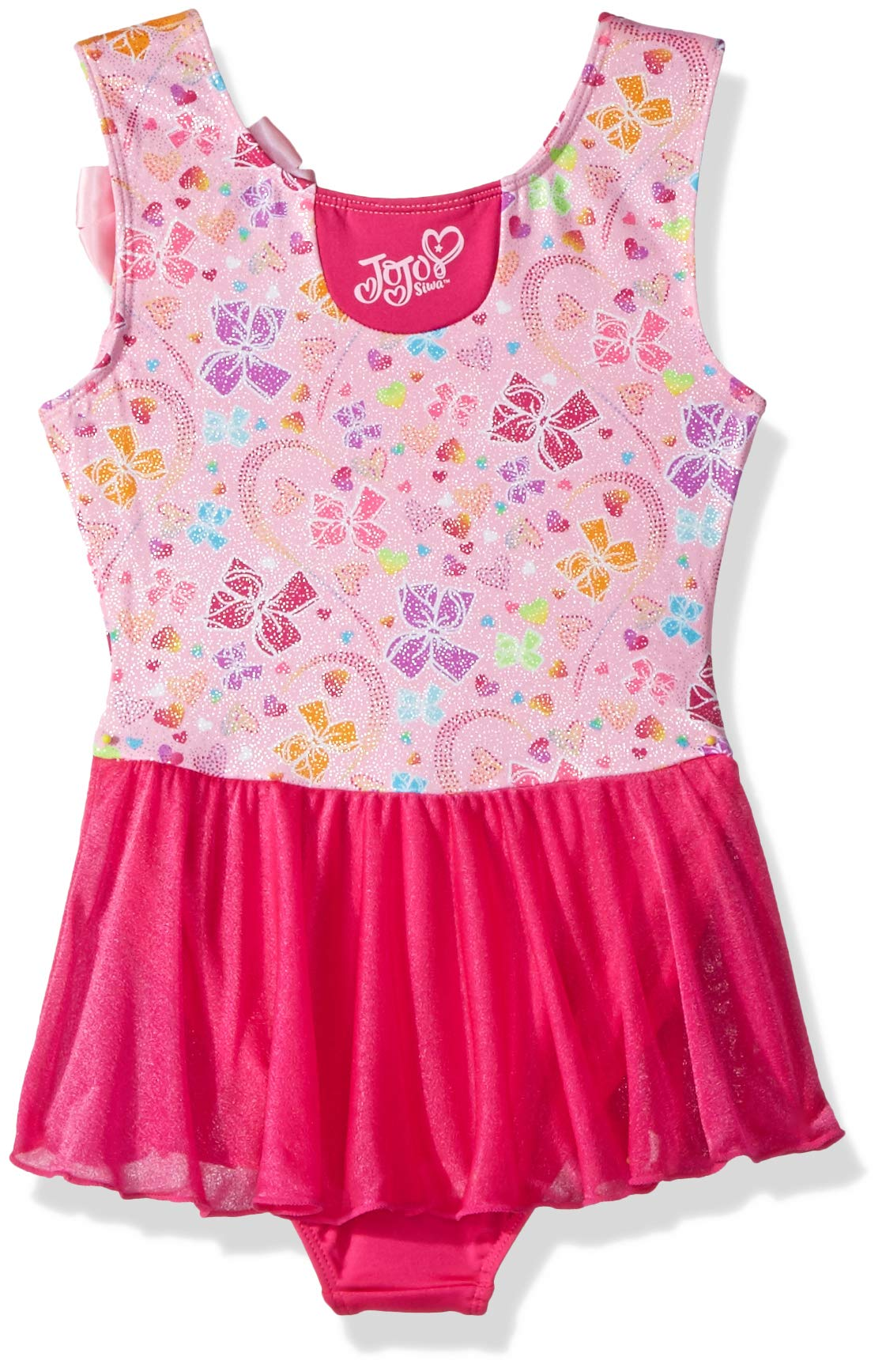 Nickelodeon Girls' Big Rainbow Bows Tank Dance Dress, Sugar Pink Pretty, Small by Nickelodeon (Image #2)