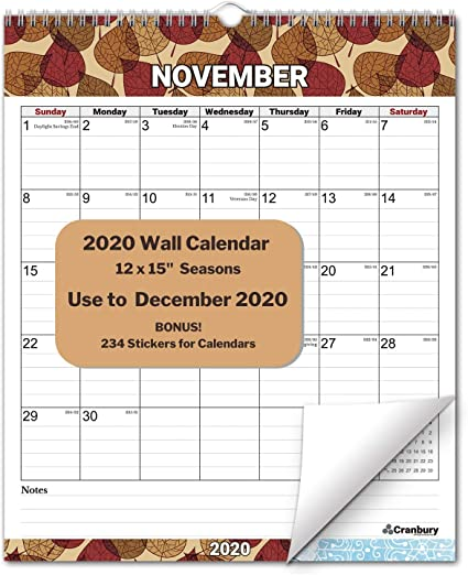 Calendario grande 2019-2020, año académico, calendario de pared ...