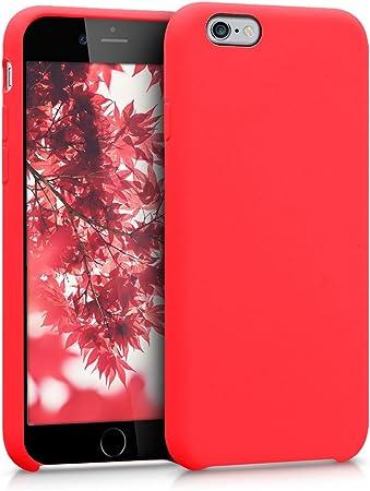 Kwmobile Hülle Kompatibel Mit Apple Iphone 6 6s Handyhülle Gummiert Handy Case In Neon Rot Elektronik