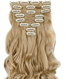 S-noilite 17-26 Inches(43-66cm) 8pcs Long Full Head Clip In Hair Extensions Extension Sexy Lady Fashion Choice 40 Colours