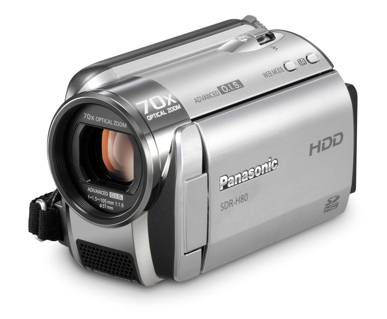 Amazon.com : Panasonic SDR-H80 SD and HDD Camcorder (Black) : Hard Disk  Drive Camcorders : Camera & Photo