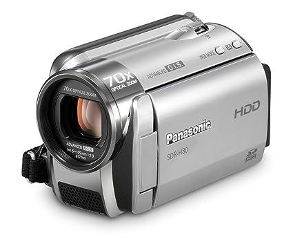 amazon com panasonic sdr h80 s sd and hdd camcorder silver rh amazon com panasonic sdr h80 instruction manual Panasonic SDR- H40P