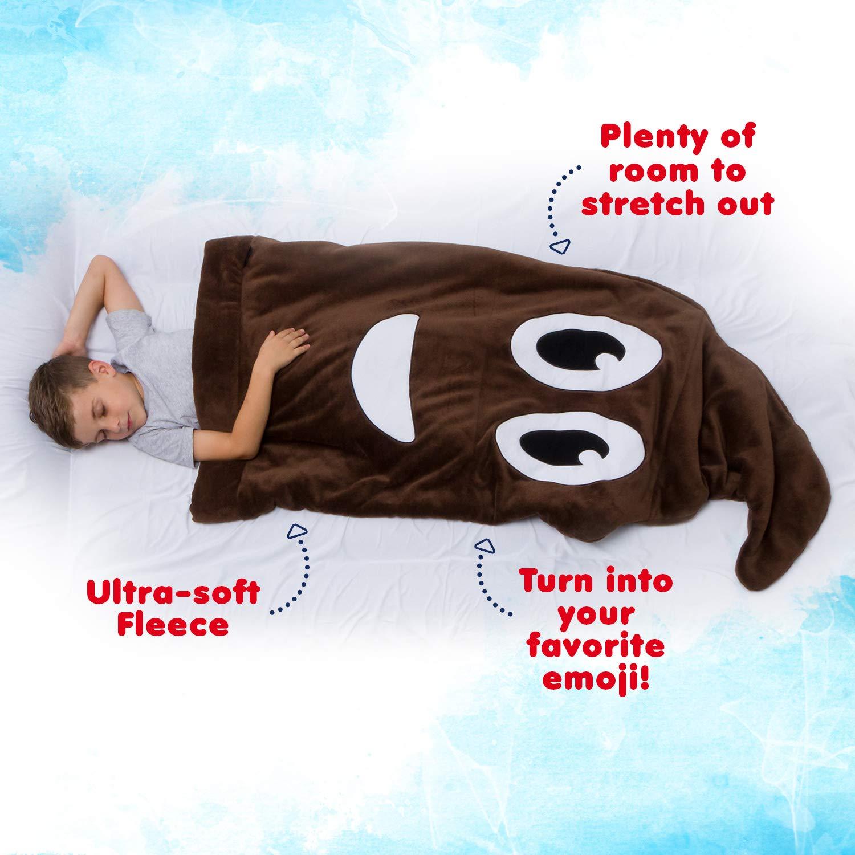 Silver Lilly Emoji Fleece Blanket Novelty Plush Sleeping Bag Throw Blanket for Kids