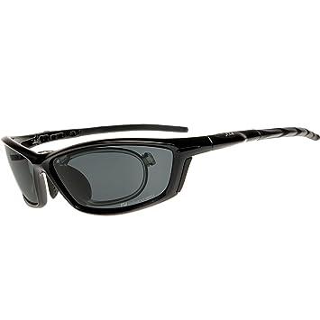 Daisan polarisierende Sonnenbrille Sportbrille mit Optik-Clip - schwarz xoevz7gFM