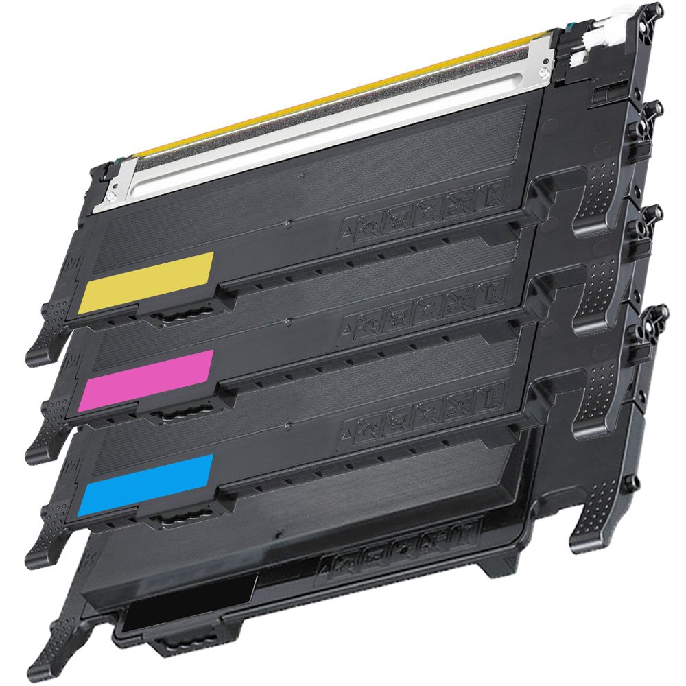 1 Set of 4 Inkfirst® Toner Cartridges CLT-K407S, CLT-C407S, CLT-M407S, CLT-Y407S Compatible Remanufactured for Samsung CLP320 Black, Cyan, Magenta, Yellow CLP-320N CLP-325 CLP-325W CLX-3185 CLX-3185FN CLX-3185FW CLX-3185N Ink First IF-CLP320SET-4COLOR(A)