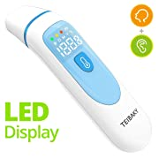 Thermometer for Fever Forehead and Ear Thermometer Baby, Kid and Adult LED Display Accurate Reading with Fever Indicators