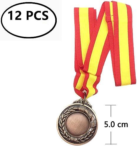 Durabol 12 Medalla Deportiva Metal Cinta España (Bronce, 5 ...
