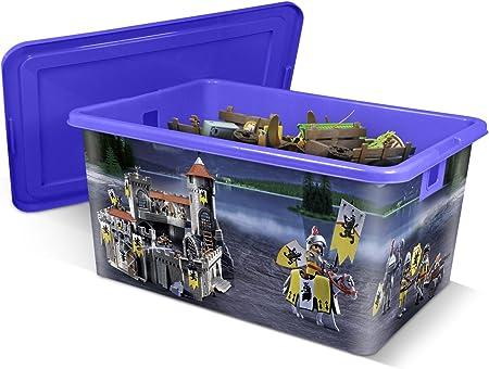 PLAYMOBIL Caja de plástico 35L Caballeros: Amazon.es: Hogar
