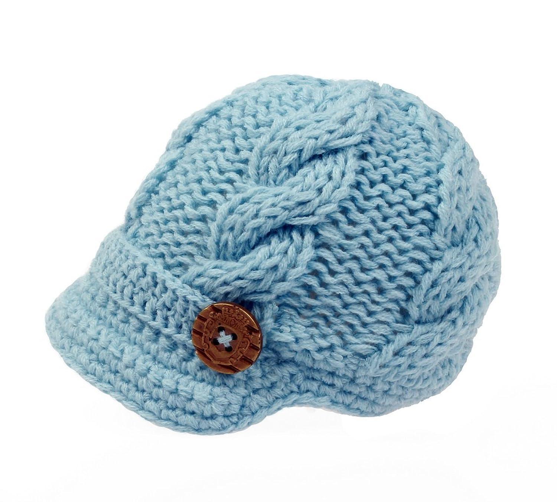 Amazon Bestknit Baby Boys Crochet Knit Newsboy cap graphy