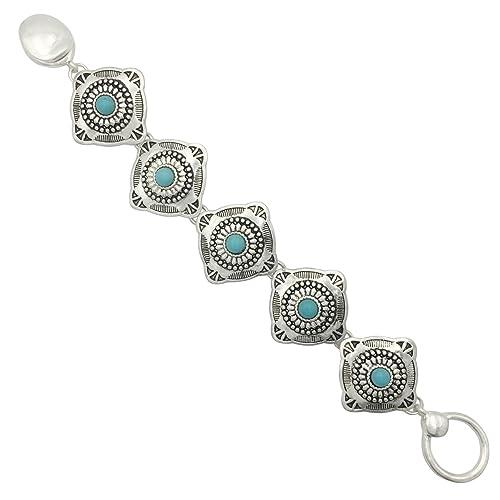 Amazon Gypsy Jewels Western Style Silver Tone Clasp