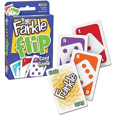 PlayMonster Farkle Flip Card Game: Toys & Games