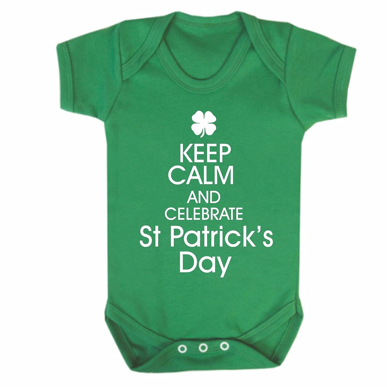 Bullshirt s Keep Calm St Patrick s Day Short Sleeve Babygrow 6 12