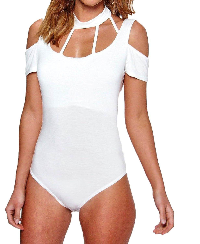 3bf6351021d4 Forever Womens Mesh Insert Flock Bodysuit at Amazon Women s Clothing store