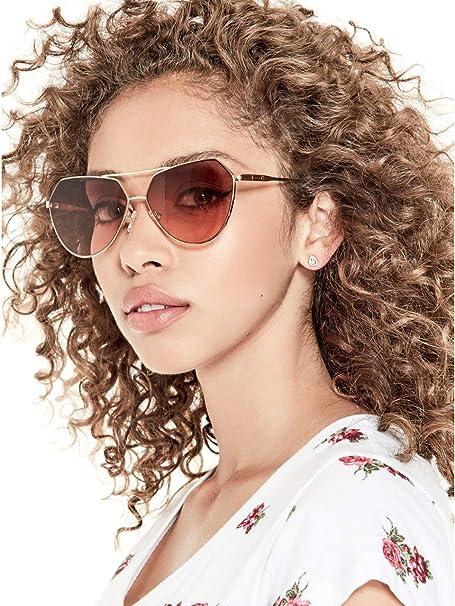ad076dd98 G by GUESS Women's Geometric Aviator Sunglasses at Amazon Women's Clothing  store: