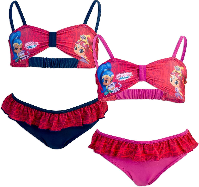 Costume Bikini 2 Pezzi con Volant Full Print Mare Piscina novit/à Prodotto Originale 985-019 Bambina Shimmer And Shine