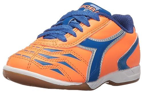 Diadora Boys  Capitano TF JR Soccer Shoe Orange Blue 1 M US Little Kid 0da0f77139b