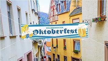 Oktoberfestdeko XXL Banner Wimpel 500 cm Wimpelkette Wimpel Wiesen Wiesn Deko
