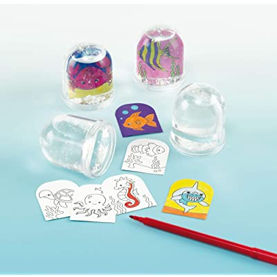 Sealife Colour-in Snow Globes (Box of 4): Toys & Games