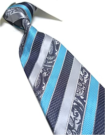 21 Styles Blue Gray White Striped New Silk WOVEN JACQUARD Men/'s Tie Necktie