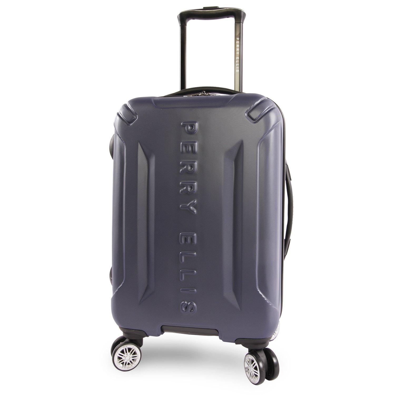 Perry Ellis Delancy Ii 21'' Hardside Carry-on Spinner Luggage, Navy
